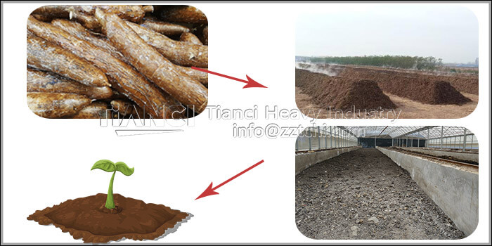 cassava residue fermentation to produce organic fertilizer